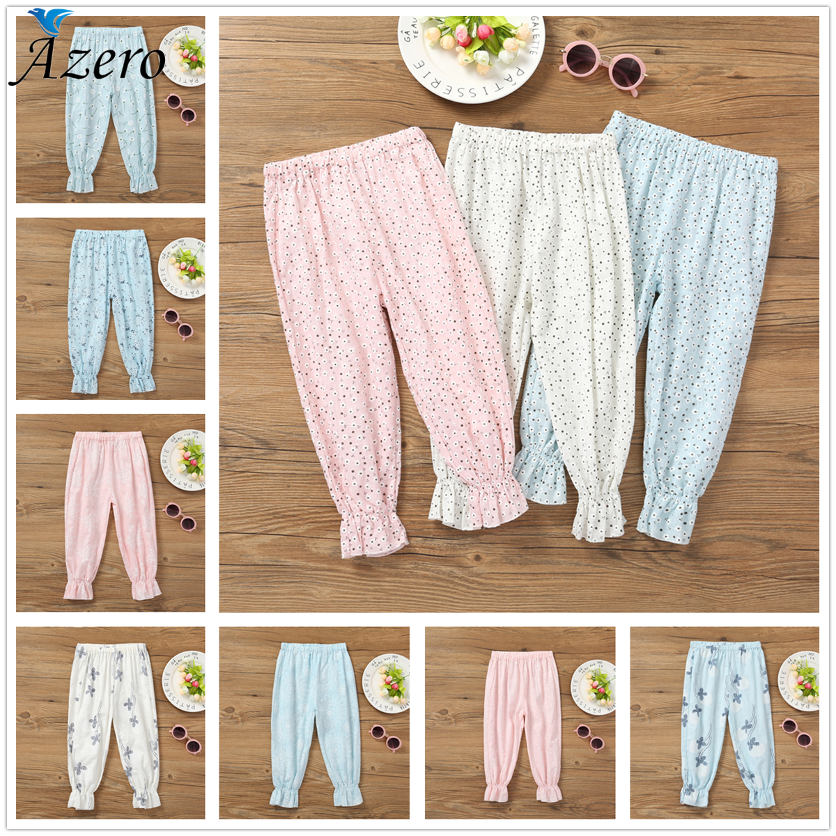 Girls Pants Trousers Toddlers Summer Long Bottoms Fashion Pants Children Harem