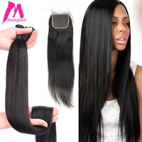 30 inch 40 inch bundles with closure Straight Virgin Remy brazilian hair weave bundles human hair extension 3 bundles 4 bundles