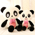 Gift for baby 1pc 40cm cute smile bowknot panda plush hold doll pillow novelty girlfriend birthday stuffed toy
