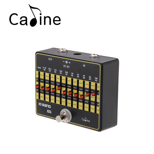 Caline CP 24 10 Band EQ Equalizer Guitar Effect Pedal Aluminium Alloy True Bypass
