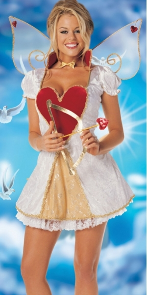 Cupid Costume Stretch Velvet Heart Shaped Dress Adult Cosplay Halloween Party Fantasias Costume For Women-in Sexy Costumes from Novelty u0026 Special Use on ...  sc 1 st  AliExpress.com & Cupid Costume Stretch Velvet Heart Shaped Dress Adult Cosplay ...