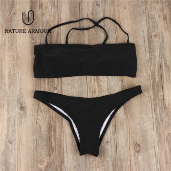 solid Tube top swimsuit sexy swimwear beach women swimming suit for women bathing suit swim suit