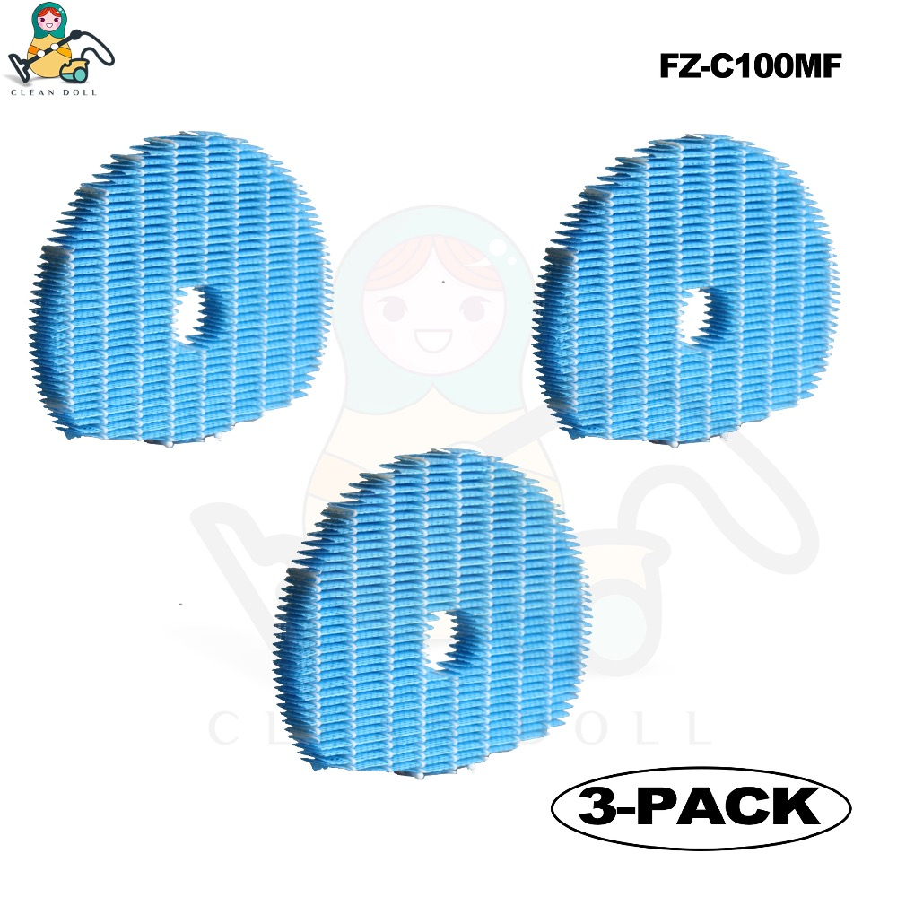 CLEAN DOLL 3-PACK Humidifying Filter for Sharp FZ-C100MFU FZ-C100MF for Sharp KC-W80/65/45 KC-C150/100 /70 Air purifier