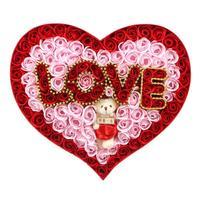 Dia dos namorados Coração-em forma de Flor Sabão Caixa De Presente Artesanal de Flores De Decoração de Casamento Dos Namorados Presente de Casamento Presente de Aniversário 3