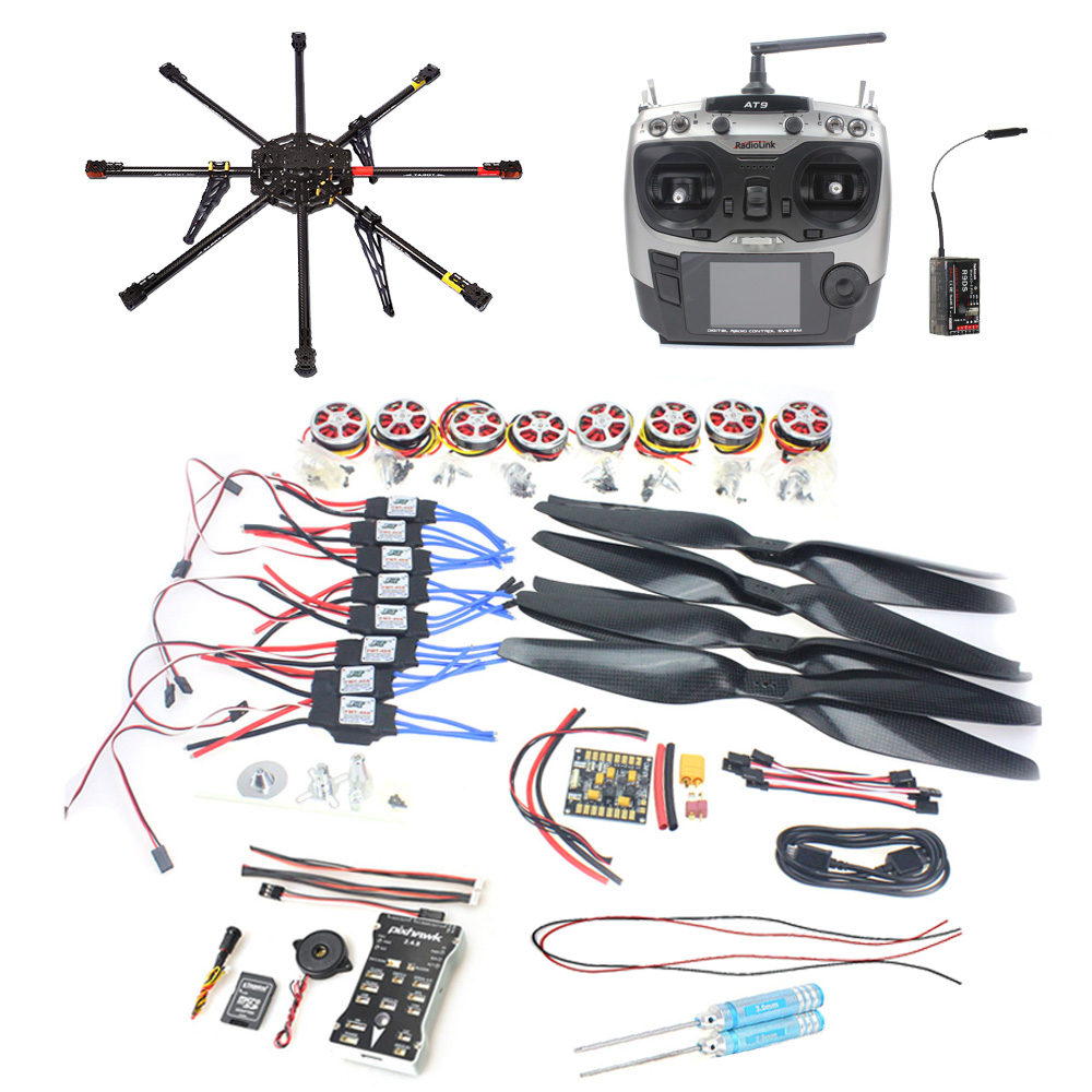 DIY GPS Drone Carbon Fiber 8-axis Aircraft PX4 2.4.8 Flight Controller APM2.6 GPS 350KV Motor 40A ESC Radiolink AT9 F04765-A 30a esc bec 920kv brushless motor carbon firber propeller gps apm2 8 flight control for 4 axis diy gps drone