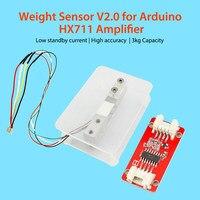 Elecrow новый обновленный датчик веса V2.0 тензодатчик DIY электронные весы вес для Arduino HX711 усилитель низкий режим ожидания ток