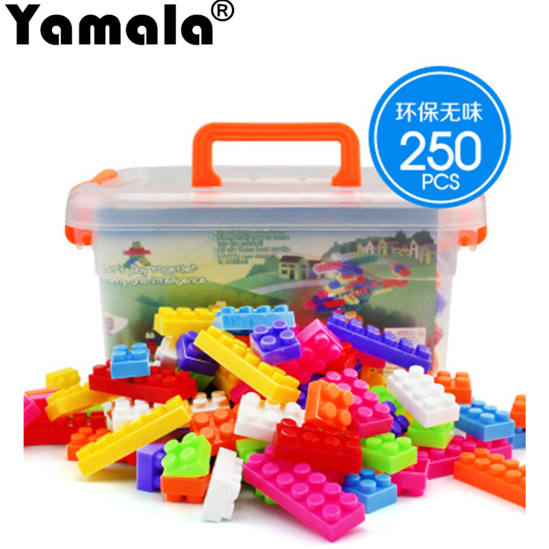 [Yamala] 250pcs Bricks Set City DIY Creative Bricks Toy Child Educational Wange Building Block Brick Compatible With lepin Duplo покрывало двуспальное karna evony 240 260 см визон