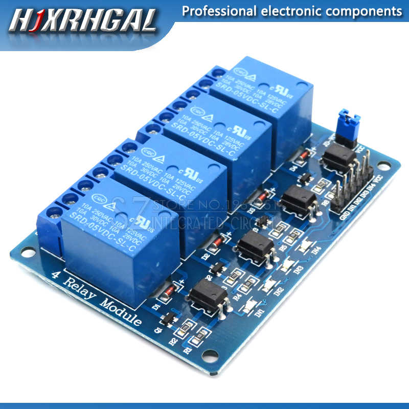 1PCS 5V 4-Channel Relay Module Shield for Arduino ARM PIC AVR DSP Electronic 5V 4 Channel Relay.4 road 5V Relay Module