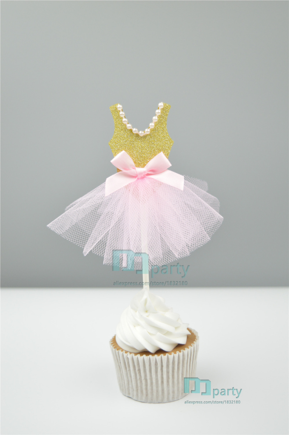 Handmade Pink princess dress wedding dress Girl Theme Party Supplies ...