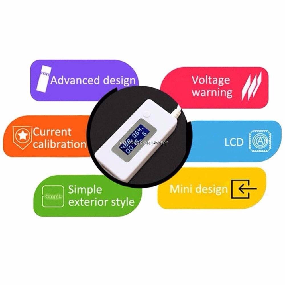 Przyjazd LCD Ładowarka Micro USB Pojemność baterii Tester - Przyrządy pomiarowe - Zdjęcie 3