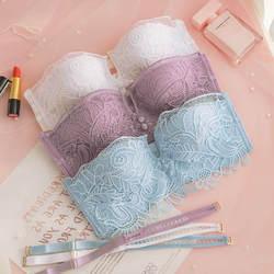 Roseheart фиолетовый Для женщин модные, Пикантные белье Push Up невидимый бюстгальтер без косточек Беспроводной кружева хлопковые трусы