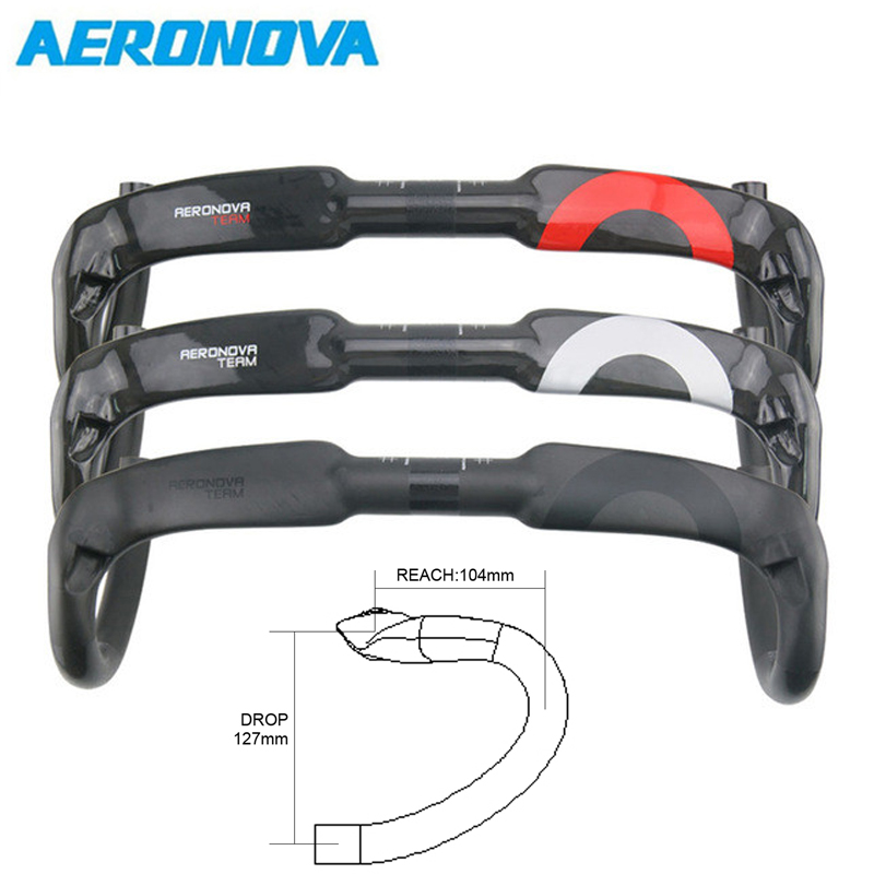 Carbon Handlebar AERONOVA Road Bike Handlebars Drop Bar Handle Bar 400/420/440mm Bicycle Handlebars guidao drop bar