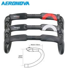 УГЛЕРОДНЫЙ руль AERONOVA, руль шоссейного велосипеда, руль руля 400/420/440 мм, руль велосипеда
