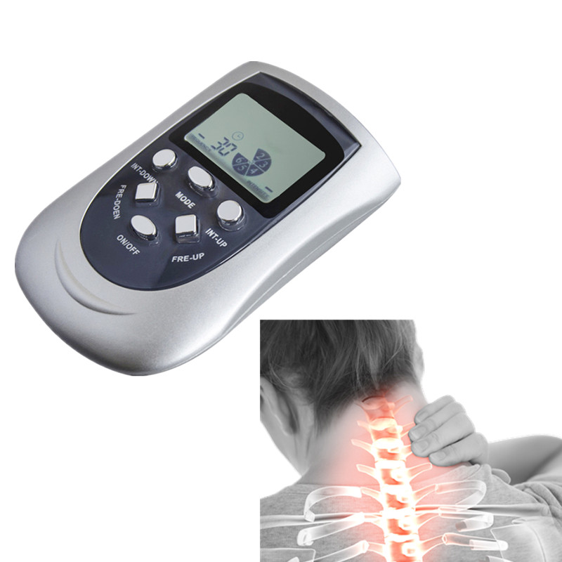 Mini Neck Shoulder Massager Multi-Function Digital Electric Massager Therapy Machine Acupuncture 2017 hot sale mini electric massager digital pulse therapy muscle full body massager silver
