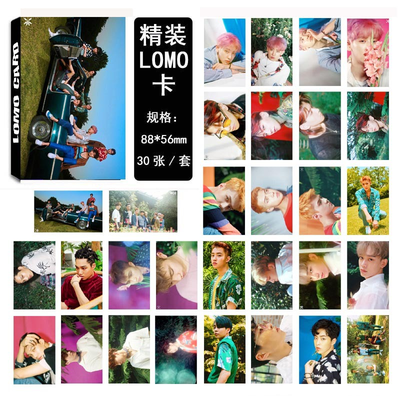 [MYKPOP] EXO THE WAR KOKOBOP ALBUM LOMO Cards 08 Paper Photo Card HD Photocard SA18030205