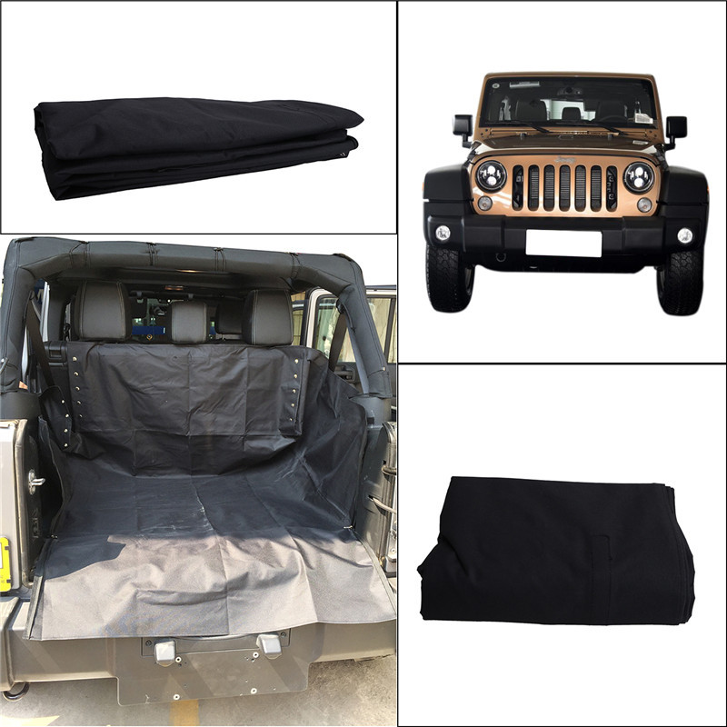 Pet Safety Seat Waterproof Carrier Cover Fold Cat Dog Travel Blanket Hammock Style For 2007 2017 Jeep Wrangler JK In Automobiles Covers From