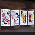 (4 unidades/Coluna) Caixas de Luz Do Menu Do Restaurante, levou Placa Do Menu para o Fast Food, Takeaway, Café ou Café Loja