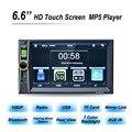 НОВЫЙ 2 Din Автомобильный Видео Плеер 6.6 ''HD Сенсорный Экран, Bluetooth Стерео радио FM MP4 MP5 Аудио USB TF Автомобильная Электроника В Тире 2din