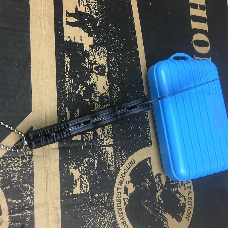 PEGASI moda ve popüler siyah katlanır bıçak meyve bıçağı zarf cep bıçak kolay kampa araçları anahtar bıçak seti