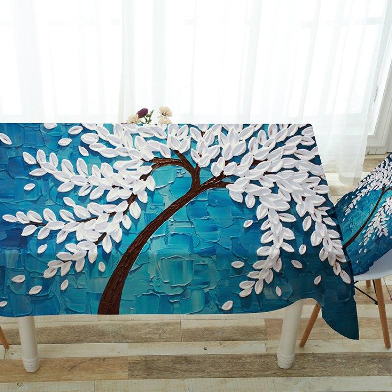 2017 Moderne Einfache Polyester Tischdecke Wasserdicht Anti L Muster Rechteckige Home Wohnzimmer Tisch