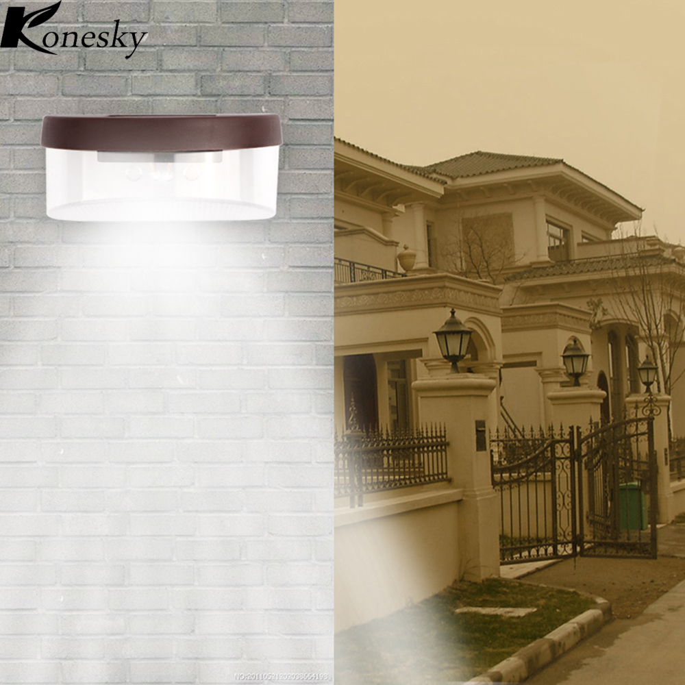 Nett Konesky Wasserdicht 2 Led Solar Garten Licht Auto Auf/aus In Nacht Wand Lampe Für Außen Beleuchtung Zaun Hof Treppen Solarlampen