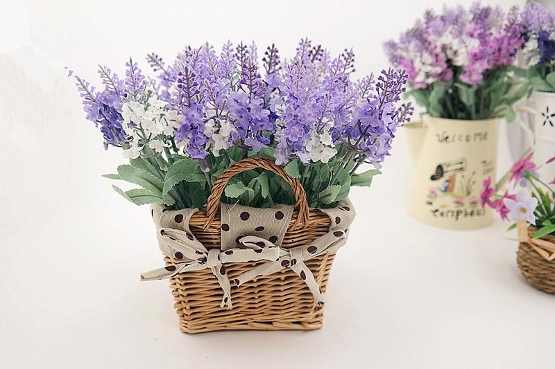 Rattan square basket artificial flower overall floral silk flower handmade lavender - Wedding Depository - HTB1oNhYGVXXXXbwXXXXq6xXFXXXj