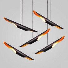 Северной Европы delightfull Колтрейн косой алюминиевая трубка подвесной светильник творческой светильник ресторан кафе hanglamp