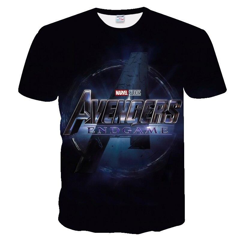 2019 The Avengers 4 Endgame Tshirt Verão Novos Homens Camiseta Vingador 3D Estrada Superhero Projeto T-Shirt de Manga Curta Casuais