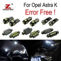 13 шт. ошибок для Vauxhall интимные аксессуары Opel Astra K OPC gtсветодиодный LED интерьер КУПОЛ географические карты огни лампы комплект (2015 +)