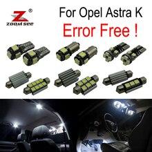 13 pcs free Error per Vauxhall Accessori per Opel Astra K OPC GTC LED Interno della cupola mappa Luci di lampadina Kit (2015 +)