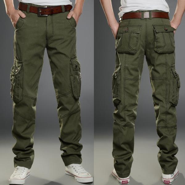 Pantalones tácticos Pantalones Cargo Hombres de Combate Del Ejército Militar Pantalones Pantalones de Algodón Al Aire Libre Tamaño 28-40