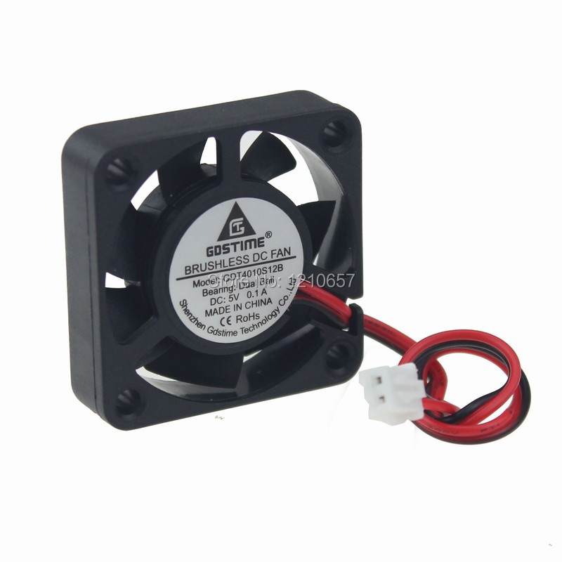 10 Pcs lot Gdstime 4010 4cm 40mm x 10mm Ball DC 5V 2Pin Brushless Exhaust Cooling Cooler Fan-in Fans & Cooling from Computer & Office    1