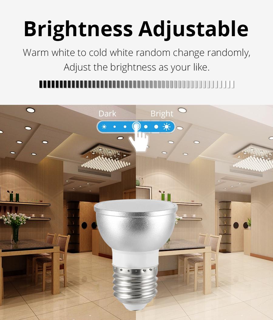 E26 E27 LED WiFi Bulb Alexa Google Home Assistant IFTTT Tuya Smart Life APP  Remote Control RGB Light Dimmer Lamp