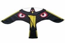 Отпугиватель птиц-Черный Летающий Hawk кайт для сада пугало украшения сада, Кайт только