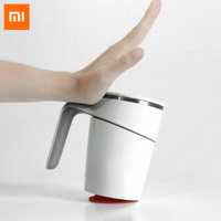 Original Xiaomi Fiu 470ml Not Pouring Cup ABS Double Insulation Magic Sucker Splash Water Ring Grip Anti Dust 304 Stainless