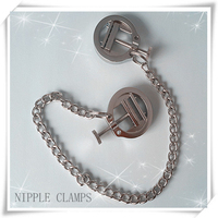 Steel Nipple Clamps With Chain Sex Toys For Couple Breast Clip