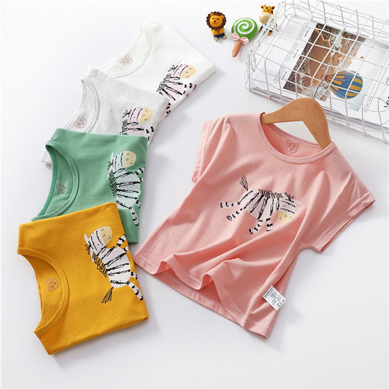 Boys Shirts Tops Blouse Clothing Short-Sleeve Toddler Tees Girls Baby Kids Children Cotton