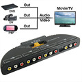 AV Audio Video Signal Switcher 4 Input 1 Output Switch Adapter Connector Converter 4 in 1 To TV