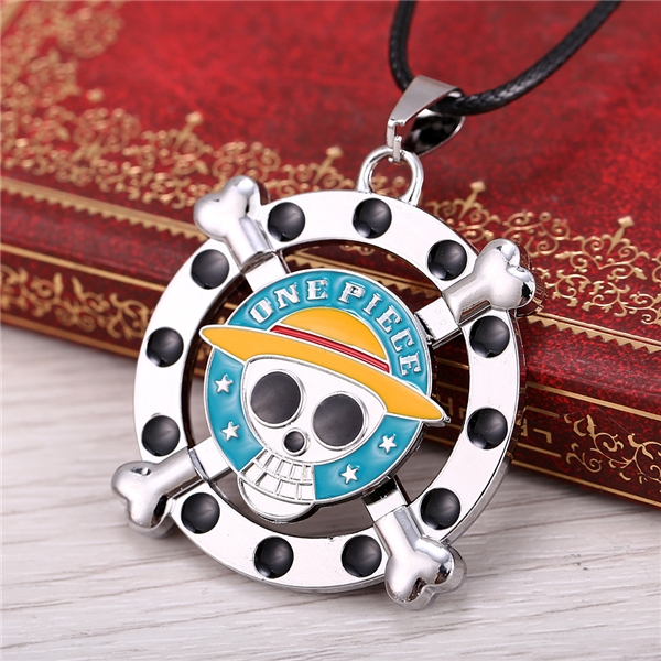 Anime One Piece Luffy Skull Pendant Necklace