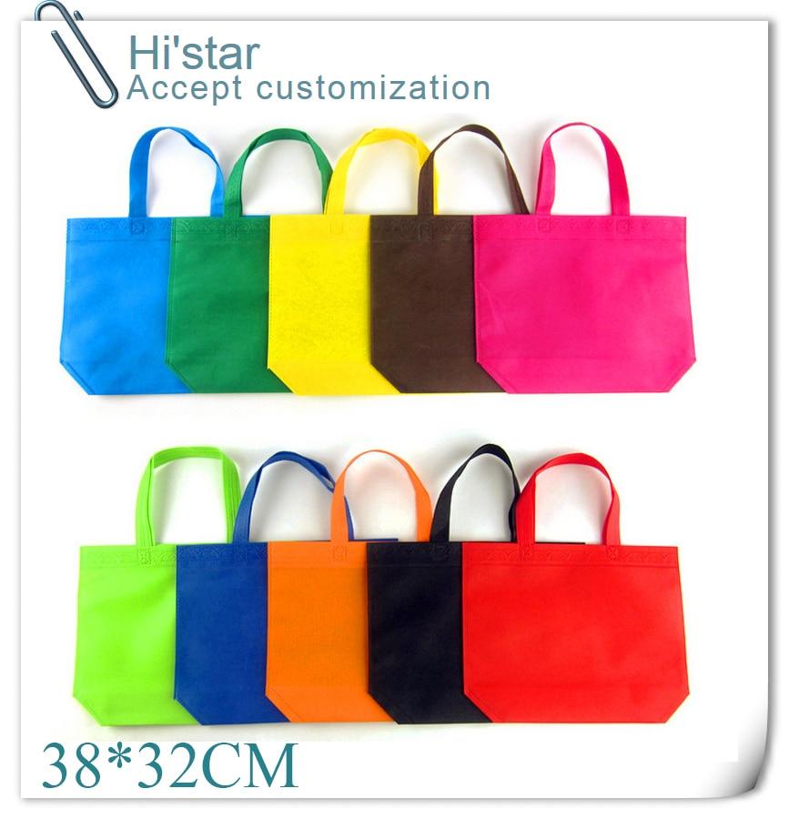 38 32cm 50pcs lot Promotional Gift Items Shopping Bag Custom Logo Printing Bolsas Reusables Non Woven