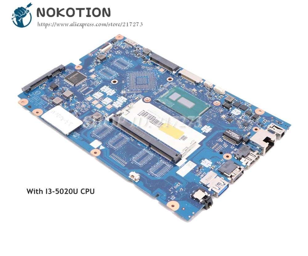 NOKOTION For Lenovo Ideapad 100-15IBD Laptop Motherboard DDR3 <font><b>SR27G</b></font> SR240 I3-5020U CPU 5B20K40900 NM-A681 image