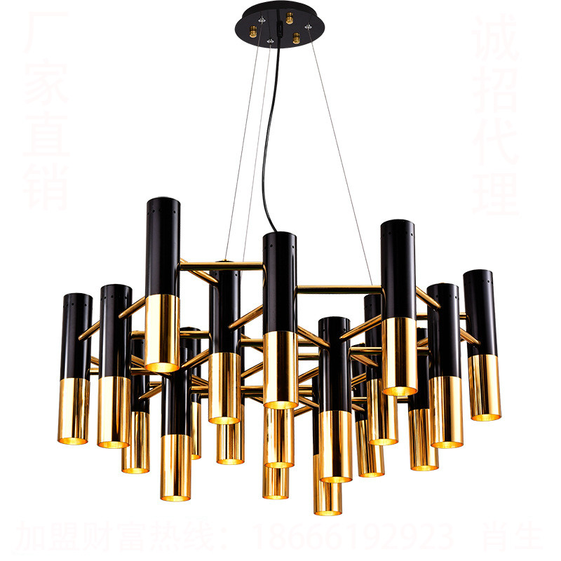 ФОТО Modern Simple Personalized Designer Plated Black Gold Iron Led E14 Pendant Light For Living Room Dining Room Shop 1850