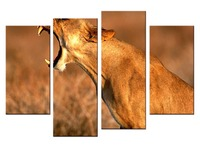 4 Pieces Set Canvas Animal Printing High Quality HD Great Art African Cheetah Pictures Modern Home