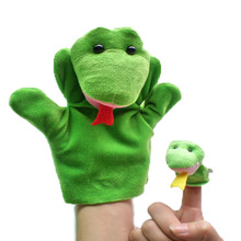 Snake hand+finger puppet set Children baby plush Stuffed Toy green snake hand puppet kid Christmas birthday gift