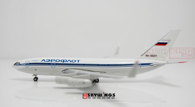 Phoenix 10668 Russian aviation RA-96011 1:400 commercial jetliners plane model hobby IL-96-300 11010 phoenix australian aviation vh oej 1 400 b747 400 commercial jetliners plane model hobby