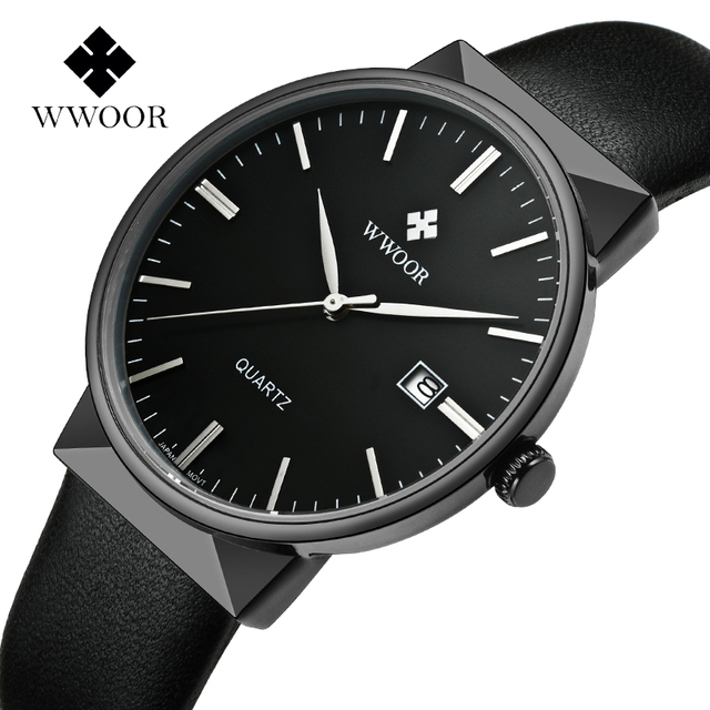 8238c6d14a1 WWOOR Relógio De Pulso Dos Homens Top Marca de Luxo Famoso Relógio  Masculino Relógio de Quartzo