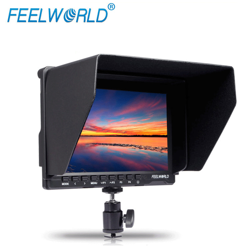 Feelworld 7 IPS Ultra thin 1280 x 800 HDMI Camera Field Monitor with Peaking Focus Histogram False Colors Zebra Exposure FW759P
