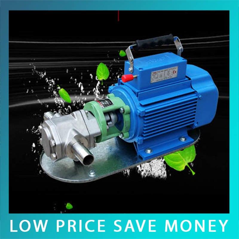 WCB-30 Portable Electric Oil Transfer Pump 220V/380V 30L/Min Oil Pumping Pump wcb 30 cast iron self priming gear oil pump 30l min engine oil pump