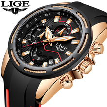 цены LIGE Mew Mens Watches Top Brand Luxury Chronograph Waterproof Sport Quartz Watch Men Fashion Army Wristwatch Relogio Masculino