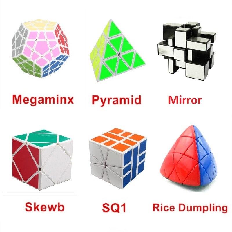 6pcs / Set Shengshou Noir Étrange-forme Puzzle Cube Ensemble Vitesse - Jeux et casse-tête - Photo 2